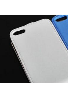 Откидной белый кожаный чехол для iPhone 5/5s