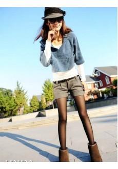 Короткие шорты из плотной ткани