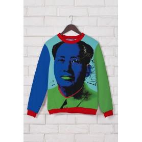 Модный свитшот с принтом Мао Цзэдун
